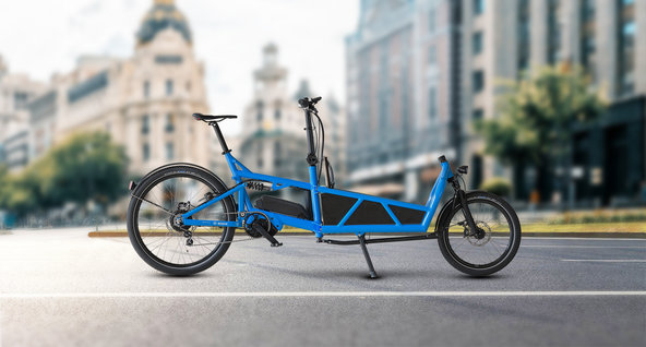 blue Cargo eBike powered by Bosch